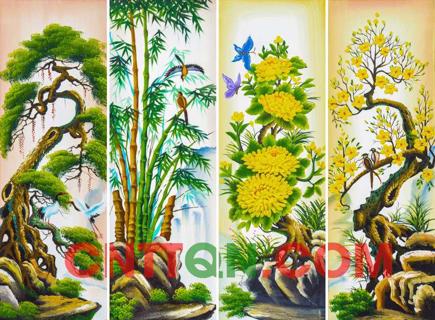 [Share] Bộ tranh ảnh Tứ Quý đẹp - In ấn làm tranh